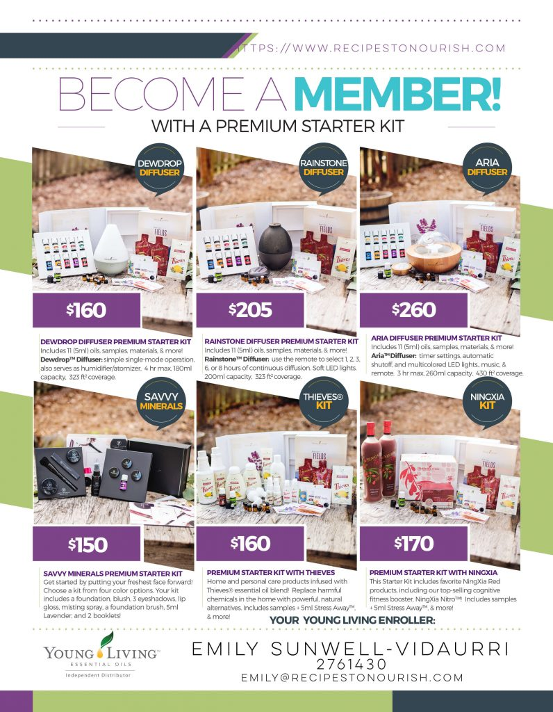 Young Living essential oils Premium Starter Kits