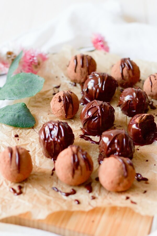 Chocolate covered homemade candies.