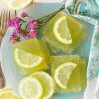 Naturally Sweetened Homemade Lemon Jello