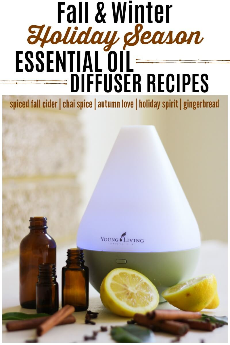 Holiday Season Essential Oil Diffuser Recipes - fill your home with the scents of fall and winter naturally with these amazing, uplifting diffuser recipes. | Recipes to Nourish | Essential oil recipes | Essential oil mixes | Oil diffuser recipes | Essential oil diffuser | Essential oil benefits | Essential oil diffuser recipes | Holiday diffuser recipes || #essentialoilsrecipes #essentialoilsdiffuser #holidayscents #fallessentialoils #holidayessentialoils