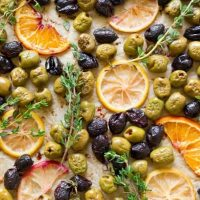 Roasted Maple Citrus Herb Olives