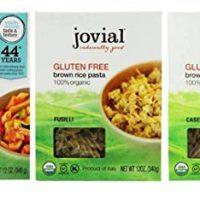Jovial Organic Gluten-Free Brown Rice Italian Pasta 3 Shape Variety Bundle: (1) Penne Rigate, (1) Fusilli, (1) Caserecce, 12 Oz. Ea.