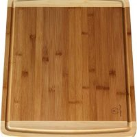 Extra Large Bamboo Cutting Board with Juice Groove - 17.5 x 13.5 x 0.75 inch, Organic, Formaldehyde-free