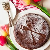 Double Chocolate Flourless Chocolate Torte
