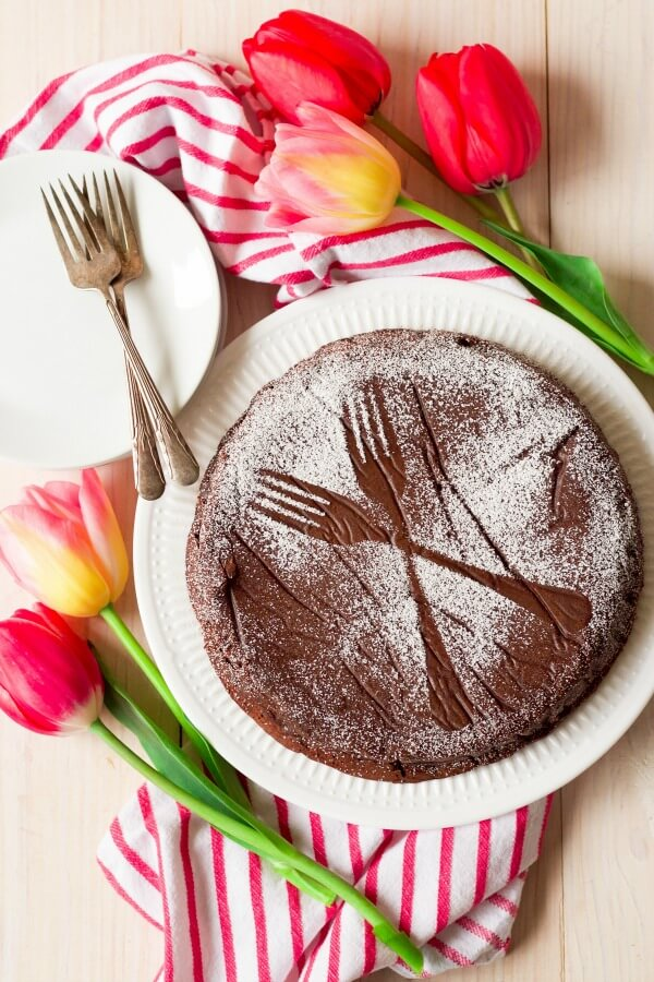 Double Chocolate Flourless Chocolate Torte from Recipes to Nourish