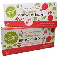 Natural Value Plastic Reclosable Sandwich Bags (2-pack - 100 bags total)