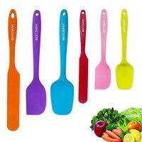 Silicone Spatula - 6 Spatulas Silicone Heat Resistant - Mini Rubber Spatula Set - Cooking Spatulas for Nonstick Cookware - Colorful Baking Kitchen Spatula Set - One Piece Design Spoon (Multicolor)