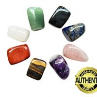 Chakra Stones Healing Crystals Set of 8 for Crystal Therapy, Worry Stones