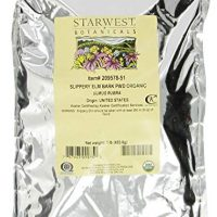 Starwest Botanicals Organic Slippery Elm Bark Powder, 1 lb Bag